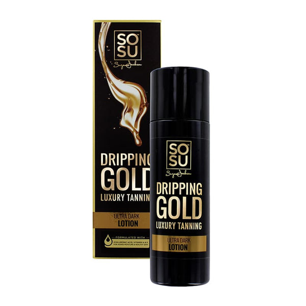 SOSU by Suzanne Jackson Dripping Gold Luxury Tanning Lotion - Ultra Dark | SOSU Tan Lotion | Ultra Dark | Dripping Gold Tan