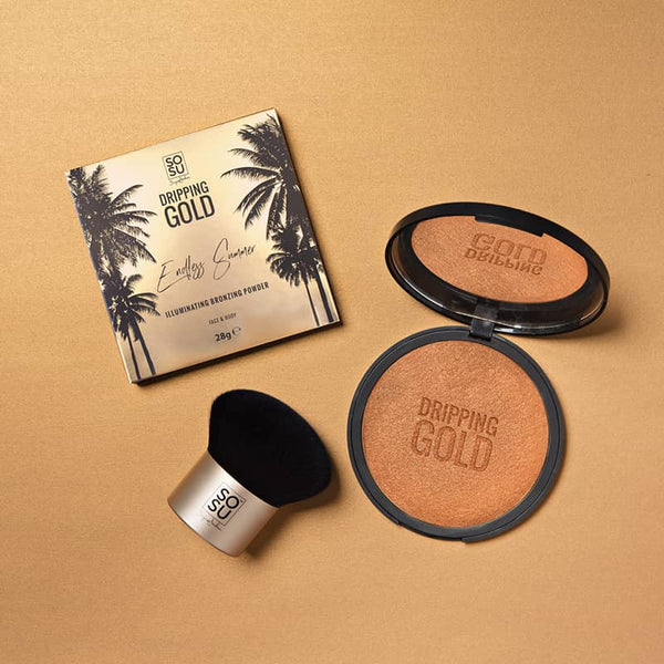 SOSU Bronzer and Brush | SOSU by Suzanne Jackson | Dripping Gold