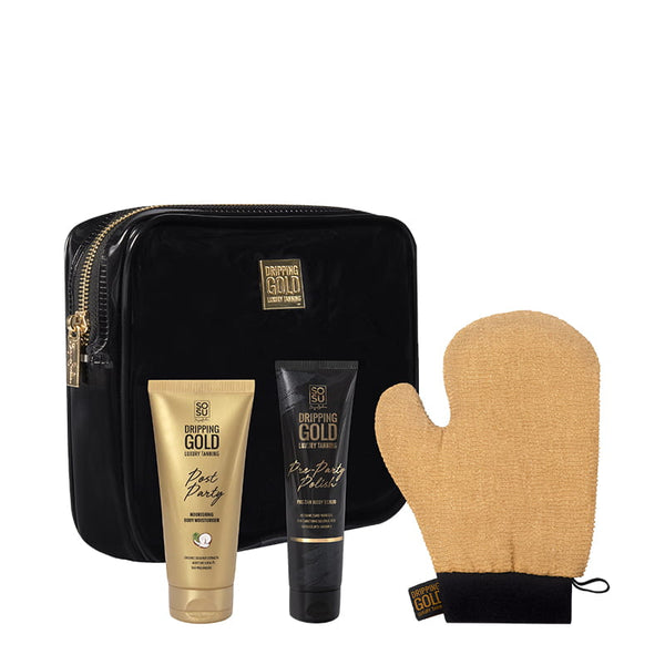 Dripping Gold Party Prep Set Gift Set
