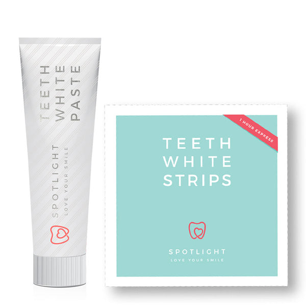 Spotlight Whitening Toothpaste & Teeth Whitening Strips Duo