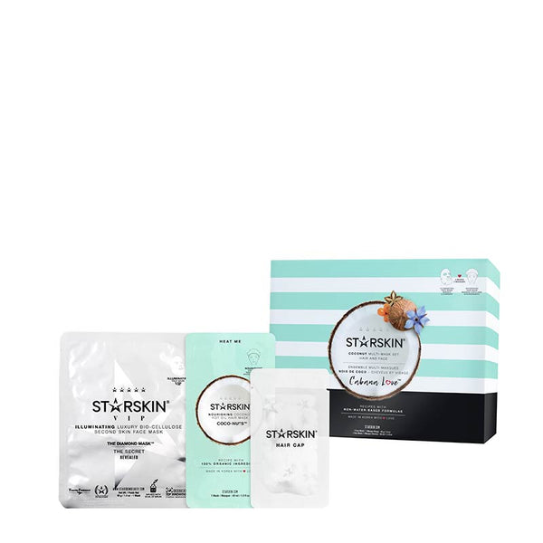 STARSKIN Cabana Love Coconut Multi-Mask Set Hair & Face