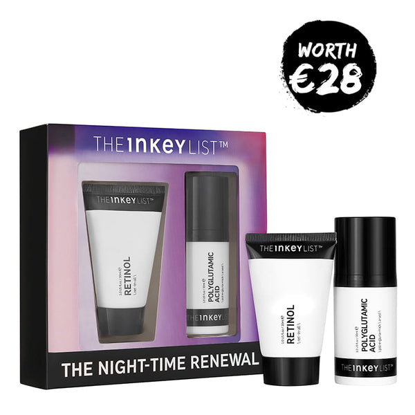 The INKEY List The Night-Time Renewal Duo | Skincare gift set