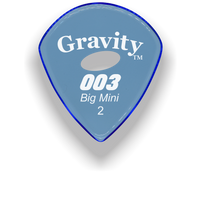 Load image into Gallery viewer, 003 Big Mini 2.0mm Blue Elipse Grip Acrylic Guitar Pick Handmade Custom Best Acoustic Mandolin Electric Ukulele Bass Plectrum Bright Loud Faster Speed