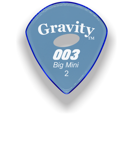 003 Big Mini 2.0mm Blue Elipse Grip Acrylic Guitar Pick Handmade Custom Best Acoustic Mandolin Electric Ukulele Bass Plectrum Bright Loud Faster Speed