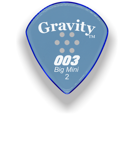 003 Big Mini 2.0mm Blue Multi-Hole Grip Acrylic Guitar Pick Handmade Custom Best Acoustic Mandolin Electric Ukulele Bass Plectrum Bright Loud Faster Speed