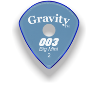 Load image into Gallery viewer, 003 Big Mini 2.0mm Blue Single Round Grip Acrylic Guitar Pick Handmade Custom Best Acoustic Mandolin Electric Ukulele Bass Plectrum Bright Loud Faster Speed