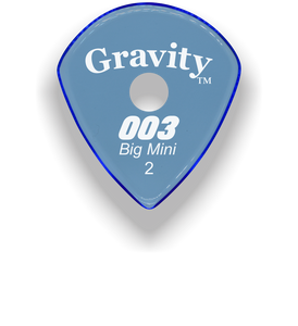 003 Big Mini 2.0mm Blue Single Round Grip Acrylic Guitar Pick Handmade Custom Best Acoustic Mandolin Electric Ukulele Bass Plectrum Bright Loud Faster Speed