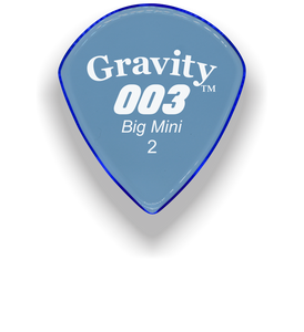 003 Big Mini 2.0mm Blue Acrylic Guitar Pick Handmade Custom Best Acoustic Mandolin Electric Ukulele Bass Plectrum Bright Loud Faster Speed