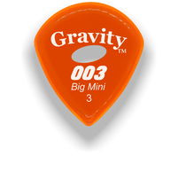 Load image into Gallery viewer, 003 Big Mini 3.0mm Orange Elipse Grip Acrylic Guitar Pick Handmade Custom Best Acoustic Mandolin Electric Ukulele Bass Plectrum Bright Loud Faster Speed