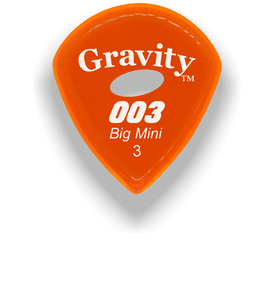 003 Big Mini 3.0mm Orange Elipse Grip Acrylic Guitar Pick Handmade Custom Best Acoustic Mandolin Electric Ukulele Bass Plectrum Bright Loud Faster Speed