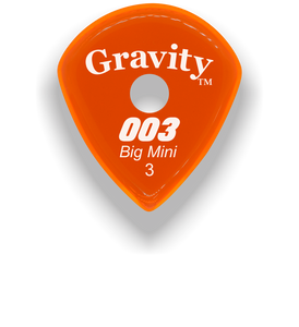 003 Big Mini 3.0mm Orange Single Round Grip Acrylic Guitar Pick Handmade Custom Best Acoustic Mandolin Electric Ukulele Bass Plectrum Bright Loud Faster Speed