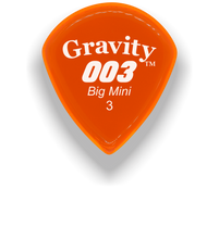 Load image into Gallery viewer, 003 Big Mini 3.0mm Orange Acrylic Guitar Pick Handmade Custom Best Acoustic Mandolin Electric Ukulele Bass Plectrum Bright Loud Faster Speed