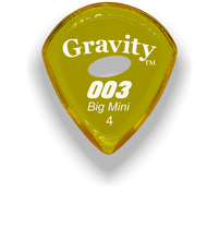 Load image into Gallery viewer, 003 Big Mini 4.0mm Yellow Elipse Grip Acrylic Guitar Pick Handmade Custom Best Acoustic Mandolin Electric Ukulele Bass Plectrum Bright Loud Faster Speed