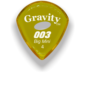 003 Big Mini 4.0mm Yellow Elipse Grip Acrylic Guitar Pick Handmade Custom Best Acoustic Mandolin Electric Ukulele Bass Plectrum Bright Loud Faster Speed