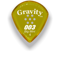 Load image into Gallery viewer, 003 Big Mini 4.0mm Yellow Multi-Hole Grip Acrylic Guitar Pick Handmade Custom Best Acoustic Mandolin Electric Ukulele Bass Plectrum Bright Loud Faster Speed