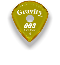 Load image into Gallery viewer, 003 Big Mini 4.0mm Yellow Single Round Grip Acrylic Guitar Pick Handmade Custom Best Acoustic Mandolin Electric Ukulele Bass Plectrum Bright Loud Faster Speed