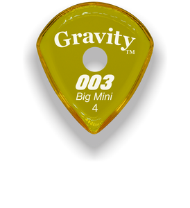 003 Big Mini 4.0mm Yellow Single Round Grip Acrylic Guitar Pick Handmade Custom Best Acoustic Mandolin Electric Ukulele Bass Plectrum Bright Loud Faster Speed