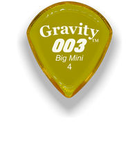 Load image into Gallery viewer, 003 Big Mini 4.0mm Yellow Acrylic Guitar Pick Handmade Custom Best Acoustic Mandolin Electric Ukulele Bass Plectrum Bright Loud Faster Speed