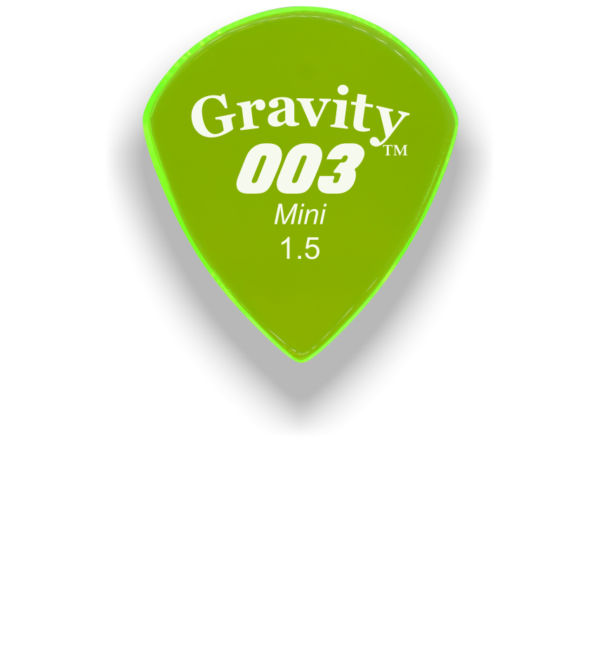 003 Mini Jazz 1.5mm Fluorescent Green Acrylic Guitar Pick Handmade Custom Best Acoustic Mandolin Electric Ukulele Bass Plectrum Bright Loud Faster Speed
