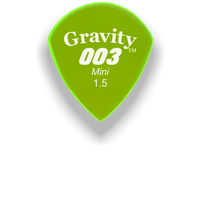 Load image into Gallery viewer, 003 Mini Jazz 1.5mm Fluorescent Green Acrylic Guitar Pick Handmade Custom Best Acoustic Mandolin Electric Ukulele Bass Plectrum Bright Loud Faster Speed