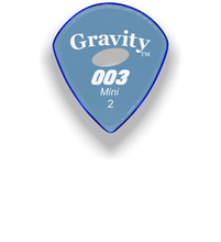 Load image into Gallery viewer,  003 Mini Jazz 2.0mm Blue Elipse Grip Acrylic Guitar Pick Handmade Custom Best Acoustic Mandolin Electric Ukulele Bass Plectrum Bright Loud Faster Speed