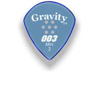 Load image into Gallery viewer,  003 Mini Jazz 2.0mm Blue Multi-Hole Grip Acrylic Guitar Pick Handmade Custom Best Acoustic Mandolin Electric Ukulele Bass Plectrum Bright Loud Faster Speed