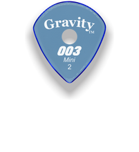 Load image into Gallery viewer,  003 Mini Jazz 2.0mm Blue Single Round Grip Acrylic Guitar Pick Handmade Custom Best Acoustic Mandolin Electric Ukulele Bass Plectrum Bright Loud Faster Speed