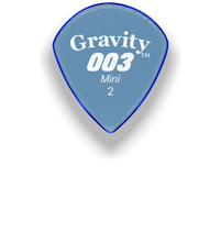 Load image into Gallery viewer, 003 Mini Jazz 2.0mm Blue Acrylic Guitar Pick Handmade Custom Best Acoustic Mandolin Electric Ukulele Bass Plectrum Bright Loud Faster Speed