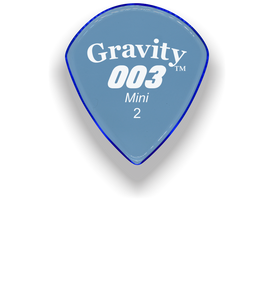 003 Mini Jazz 2.0mm Blue Acrylic Guitar Pick Handmade Custom Best Acoustic Mandolin Electric Ukulele Bass Plectrum Bright Loud Faster Speed
