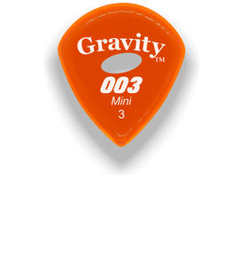 003 Mini Jazz 3.0mm Orange Elipse Grip Acrylic Guitar Pick Handmade Custom Best Acoustic Mandolin Electric Ukulele Bass Plectrum Bright Loud Faster Speed