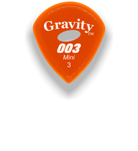 Load image into Gallery viewer,  003 Mini Jazz 3.0mm Orange Elipse Grip Acrylic Guitar Pick Handmade Custom Best Acoustic Mandolin Electric Ukulele Bass Plectrum Bright Loud Faster Speed