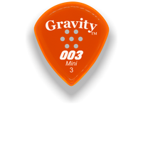 Load image into Gallery viewer,  003 Mini Jazz 3.0mm Orange Multi-Hole Grip Acrylic Guitar Pick Handmade Custom Best Acoustic Mandolin Electric Ukulele Bass Plectrum Bright Loud Faster Speed