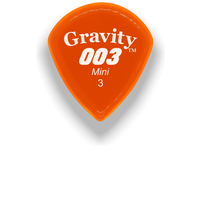 Load image into Gallery viewer,  003 Mini Jazz 3.0mm Orange Acrylic Guitar Pick Handmade Custom Best Acoustic Mandolin Electric Ukulele Bass Plectrum Bright Loud Faster Speed