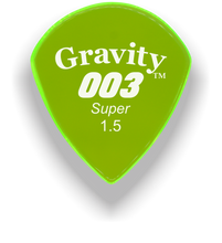 Load image into Gallery viewer, 003 Super 1.5mm Fluorescent Green Acrylic Guitar Pick Handmade Custom Best Acoustic Mandolin Electric Ukulele Bass Plectrum Bright Loud Faster Speed