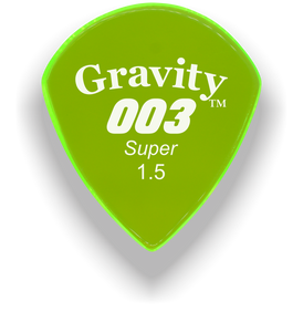 003 Super 1.5mm Fluorescent Green Acrylic Guitar Pick Handmade Custom Best Acoustic Mandolin Electric Ukulele Bass Plectrum Bright Loud Faster Speed