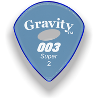 Load image into Gallery viewer, 003 Super 2.0mm Blue Elipse Grip Acrylic Guitar Pick Handmade Custom Best Acoustic Mandolin Electric Ukulele Bass Plectrum Bright Loud Faster Speed