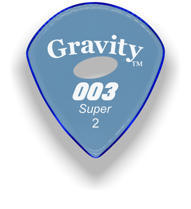 003 Super 2.0mm Blue Elipse Grip Acrylic Guitar Pick Handmade Custom Best Acoustic Mandolin Electric Ukulele Bass Plectrum Bright Loud Faster Speed