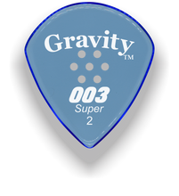 Load image into Gallery viewer, 003 Super 2.0mm Blue Multi-Hole Grip Acrylic Guitar Pick Handmade Custom Best Acoustic Mandolin Electric Ukulele Bass Plectrum Bright Loud Faster Speed