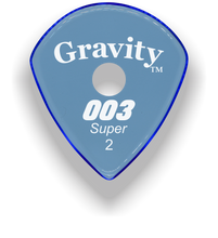 Load image into Gallery viewer, 003 Super 2.0mm Blue Single Round Grip Acrylic Guitar Pick Handmade Custom Best Acoustic Mandolin Electric Ukulele Bass Plectrum Bright Loud Faster Speed