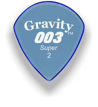Load image into Gallery viewer, 003 Super 2.0mm Blue Acrylic Guitar Pick Handmade Custom Best Acoustic Mandolin Electric Ukulele Bass Plectrum Bright Loud Faster Speed