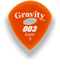 Load image into Gallery viewer, 003 Super 3.0mm Orange Elipse Grip Acrylic Guitar Pick Handmade Custom Best Acoustic Mandolin Electric Ukulele Bass Plectrum Bright Loud Faster Speed