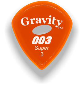 003 Super 3.0mm Orange Elipse Grip Acrylic Guitar Pick Handmade Custom Best Acoustic Mandolin Electric Ukulele Bass Plectrum Bright Loud Faster Speed