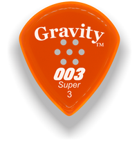 Load image into Gallery viewer, 003 Super 3.0mm Orange Multi-Hole Grip Acrylic Guitar Pick Handmade Custom Best Acoustic Mandolin Electric Ukulele Bass Plectrum Bright Loud Faster Speed