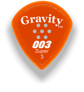 003 Super 3.0mm Orange Multi-Hole Grip Acrylic Guitar Pick Handmade Custom Best Acoustic Mandolin Electric Ukulele Bass Plectrum Bright Loud Faster Speed