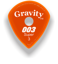 Load image into Gallery viewer, 003 Super 3.0mm Orange Single Round Grip Acrylic Guitar Pick Handmade Custom Best Acoustic Mandolin Electric Ukulele Bass Plectrum Bright Loud Faster Speed