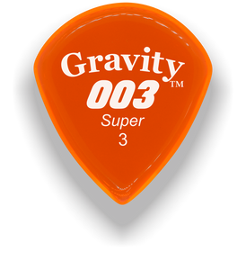 003 Super 3.0mm Orange Acrylic Guitar Pick Handmade Custom Best Acoustic Mandolin Electric Ukulele Bass Plectrum Bright Loud Faster Speed