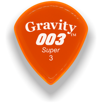 Load image into Gallery viewer, 003 Super 3.0mm Orange Acrylic Guitar Pick Handmade Custom Best Acoustic Mandolin Electric Ukulele Bass Plectrum Bright Loud Faster Speed