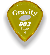 Load image into Gallery viewer, 003 Super 4.0mm Yellow Elipse Grip Acrylic Guitar Pick Handmade Custom Best Acoustic Mandolin Electric Ukulele Bass Plectrum Bright Loud Faster Speed