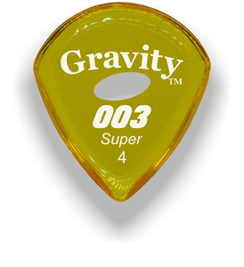 003 Super 4.0mm Yellow Elipse Grip Acrylic Guitar Pick Handmade Custom Best Acoustic Mandolin Electric Ukulele Bass Plectrum Bright Loud Faster Speed