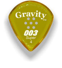 Load image into Gallery viewer, 003 Super 4.0mm Yellow Multi-Hole Grip Acrylic Guitar Pick Handmade Custom Best Acoustic Mandolin Electric Ukulele Bass Plectrum Bright Loud Faster Speed